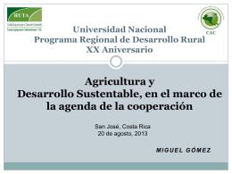 Diapositiva 1 - Maestría en Desarrollo Rural