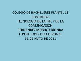colegio de bachilleres plantel 15 contreras tecnologia de la inf. y de