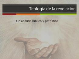 Teología de la revelación II