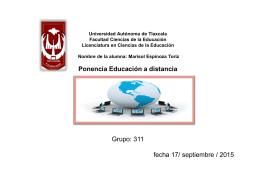 Marisol Espinoza Toriz Ponencia Educación a
