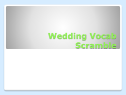 Vocab Scramble