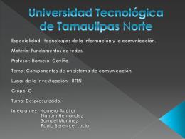 Universidad tecnológica de Tamaulipas norte - Practicas