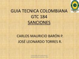 GUIA TECNICA COLOMBIANA GTC 184 SANCIONES