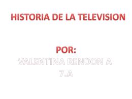 historia de la television por