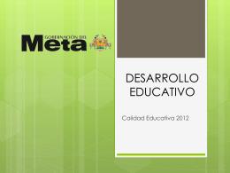Presentación Calidad - Secretaria de educación del Meta