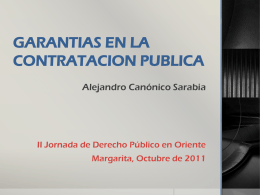 GARANTIAS EN LA CONTRATACION PUBLICA- Alejandro
