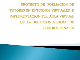 proyecto de formacion de tutores en entornos virtuales e