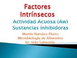 Aw y Sustancias Inhibidoras - FCQ