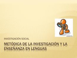 el investigador social