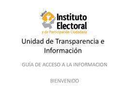 Unidad de Transparencia e Información