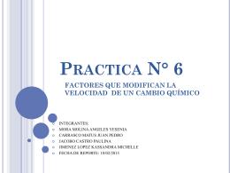 Practica 6 FACTORES QUE MODIFICAN LA