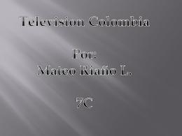 Television Colombia Por