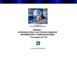 Tecnologías de Información y Comunicaciones