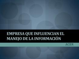 Acer - Blog de ESPOL