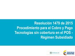 Presentación - Resolución 1479 de 2015.