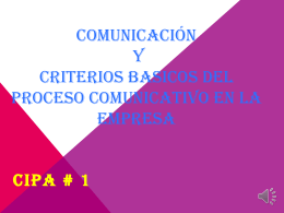 TEMA EXPUESTO-LA COMUNICACION