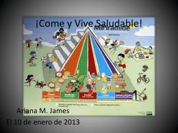 ¡Come y Vive Saludable! - Ariana James` Portfolio