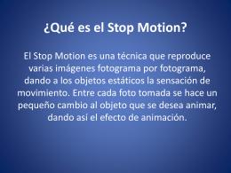 Que es el Stop Motion?
