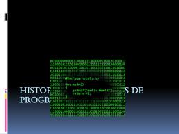 HISTORIA DE LENGUAJES DE PROGRAMACIÓN