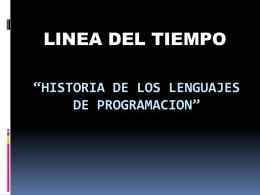 LINEA DEL TIEMPO LENGUAJES DE PROGRAMACION