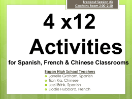 Mini Flashcards and Review Activities