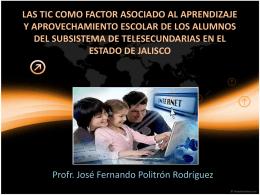 Las TIC como factor asociado al aprendizaje y aprovechamiento