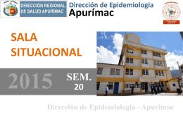 APURÍMAC 2010 – 2015* (SE 01 – 20)