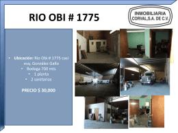 RIO OBI # 1775 Ubicación