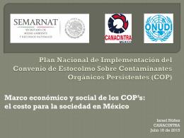Marco económico y social de los COPs