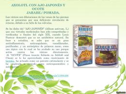 axolotl con ajo japones y acote