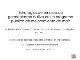 Eyherabide - Sociedad Argentina de Genética