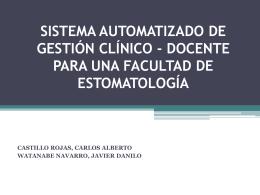 SISTEMA AUTOMATIZADO DE GESTIÓN CLÍNICO