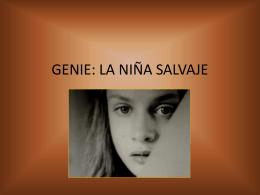 GENIE: LA NIÑA SALVAJE - Procesos de Aprendizaje