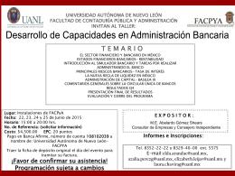 Diapositiva 1 - Facultad de Contaduría Pública y Administración