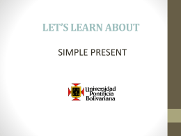 SIMPLE PRESENT DO-DOES UPB