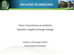 Presentación convulsiones en pediatría