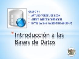 Introducción a la Bases de Datos