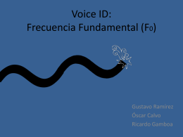 Voice ID: Frecuencia Fundamental (F0)