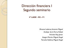 Diapositiva 1 - Seminario2DirecFinancieraI