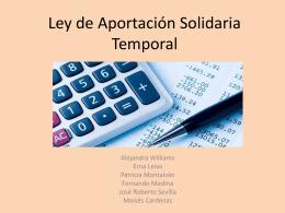 Ley de Aportación Solidaria Temporal