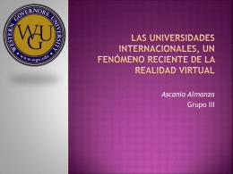 las universidades internacionales, un fenómeno reciente de la