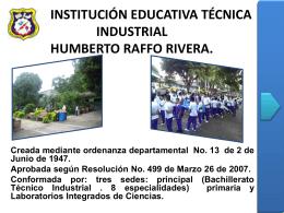 institución educativa técnica industrial humberto raffo rivera