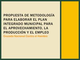 Propuesta de metodología para elaborar el Plan