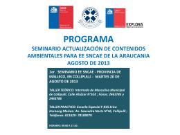 propuesta de programa seminario actualización de contenidos