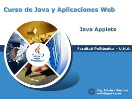 Introducción a la programación de applets, interacción javaScri