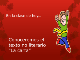 La carta - WordPress.com
