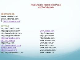 paginas de redes sociales