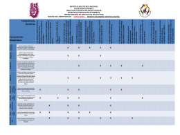 Matriz de competencias sexto nivel técnico en diseño