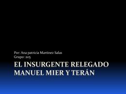 El insurgente relegado - martinezsalasanapatricia