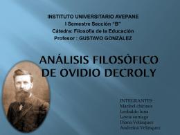 presentacion OVIDIO DECROLY